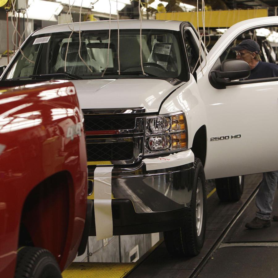 Imagen de archivo de vehículos de General Motors.