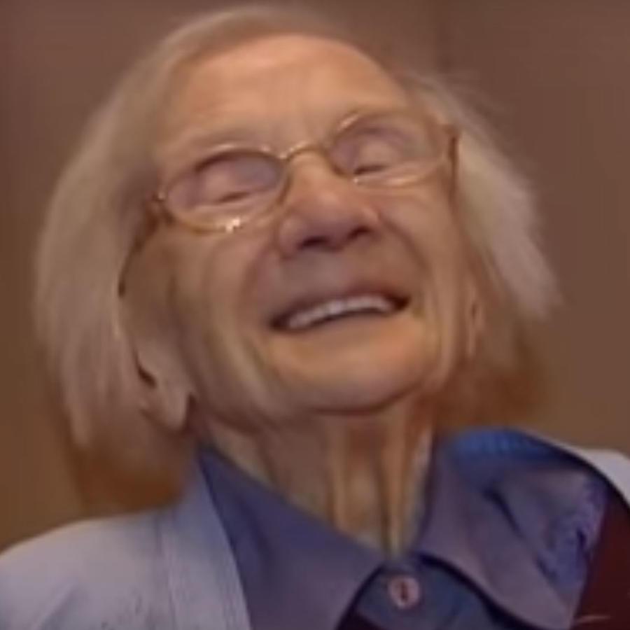 Una abuelita compartió su secreto para una vida larga y feliz