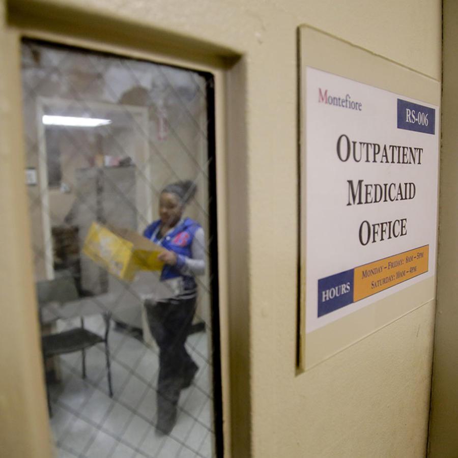 Imagen de una ofician en el Montefiore Medical Center, en el Bronx.