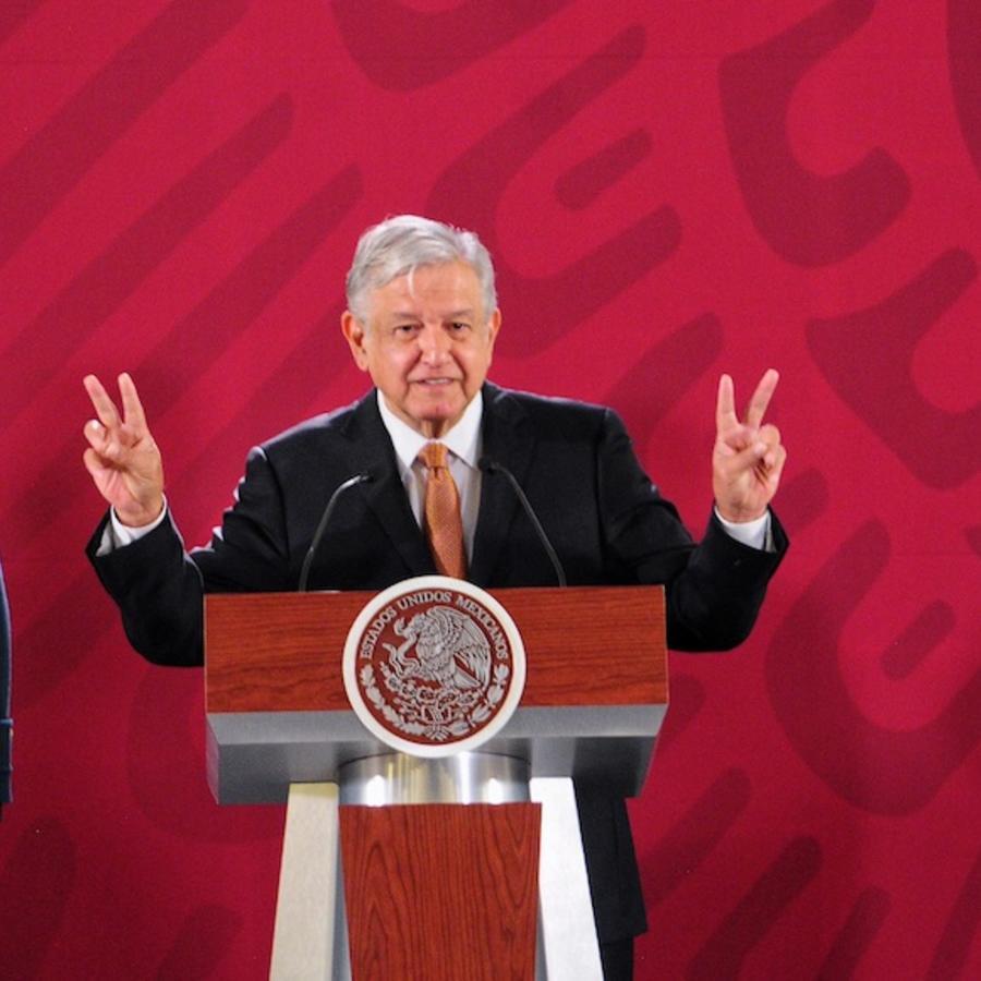 El presidente de México, Andrés Manuel López Obrador, en conferencia de prensa