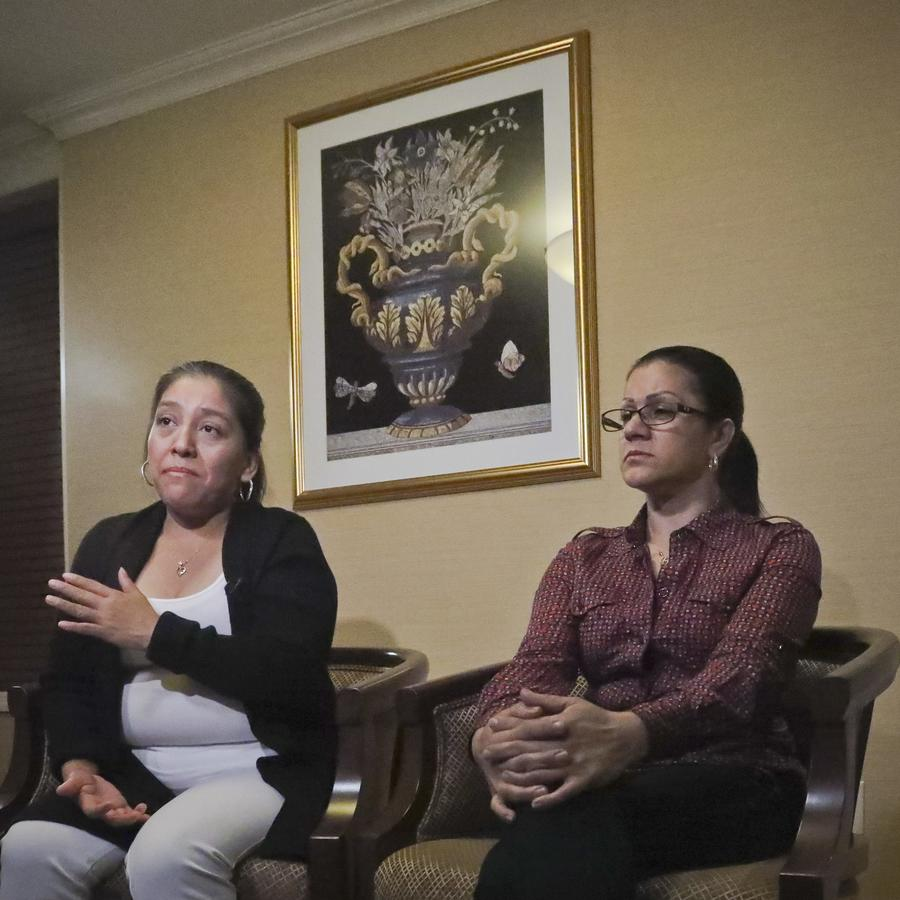 Victorina Morales y Sandra Díaz