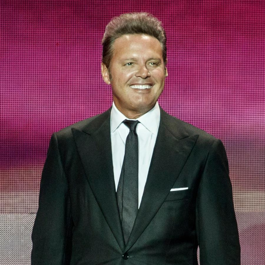 Luis Miguel posing during concert