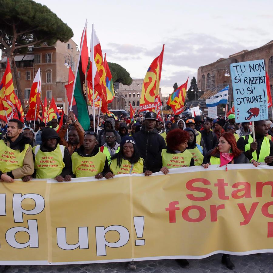 Protestas en Roma contra el racismo y la discriminación