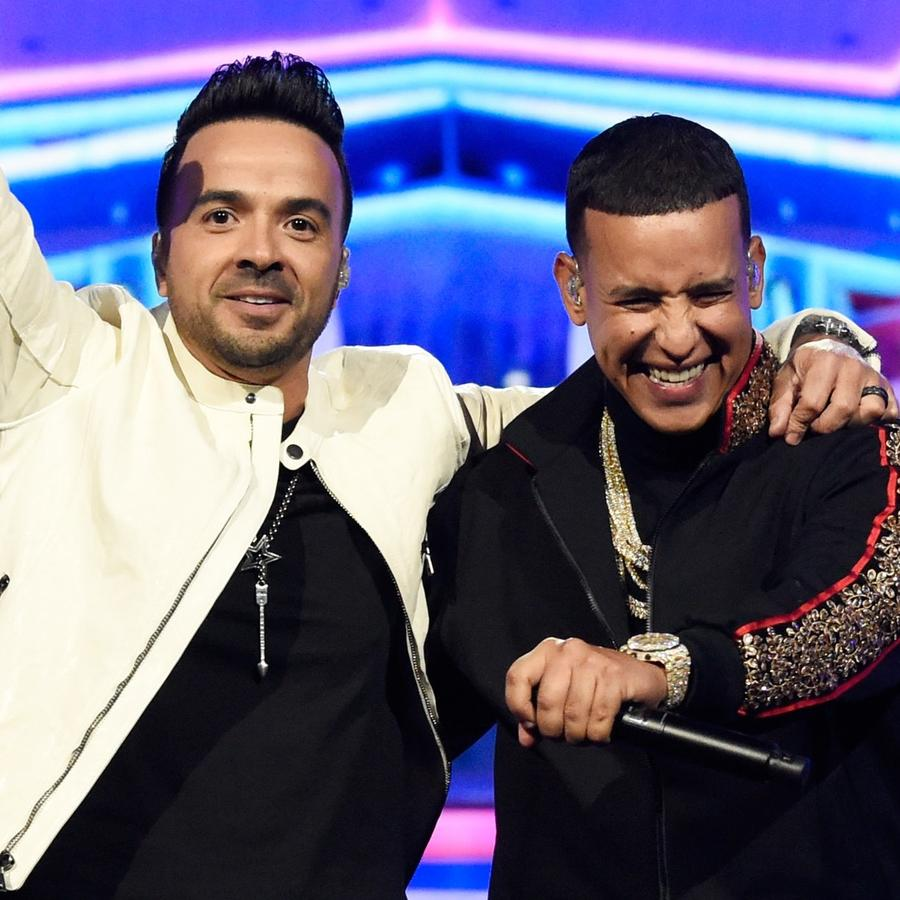 Daddy Yankee and Luis Fonsi perform at the Grammy awards