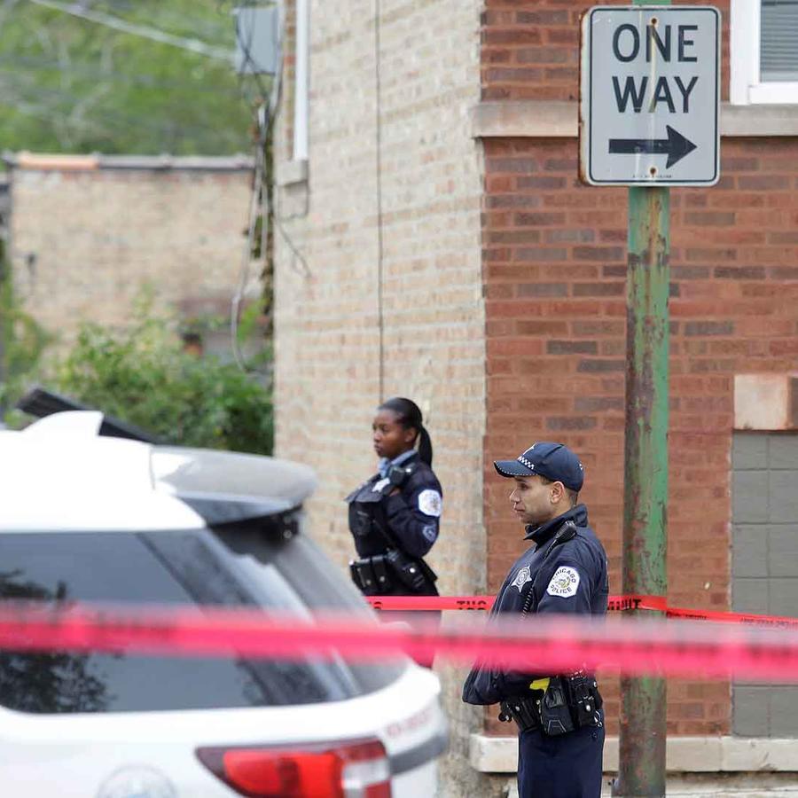 Escena de un crimen en Chicago