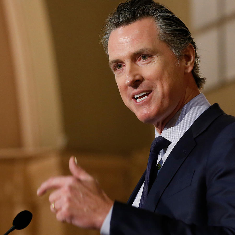 Gavin Newsom, nuevo gobernador de California, en el Legislative Black Caucus Martin Luther King Jr. ayer
