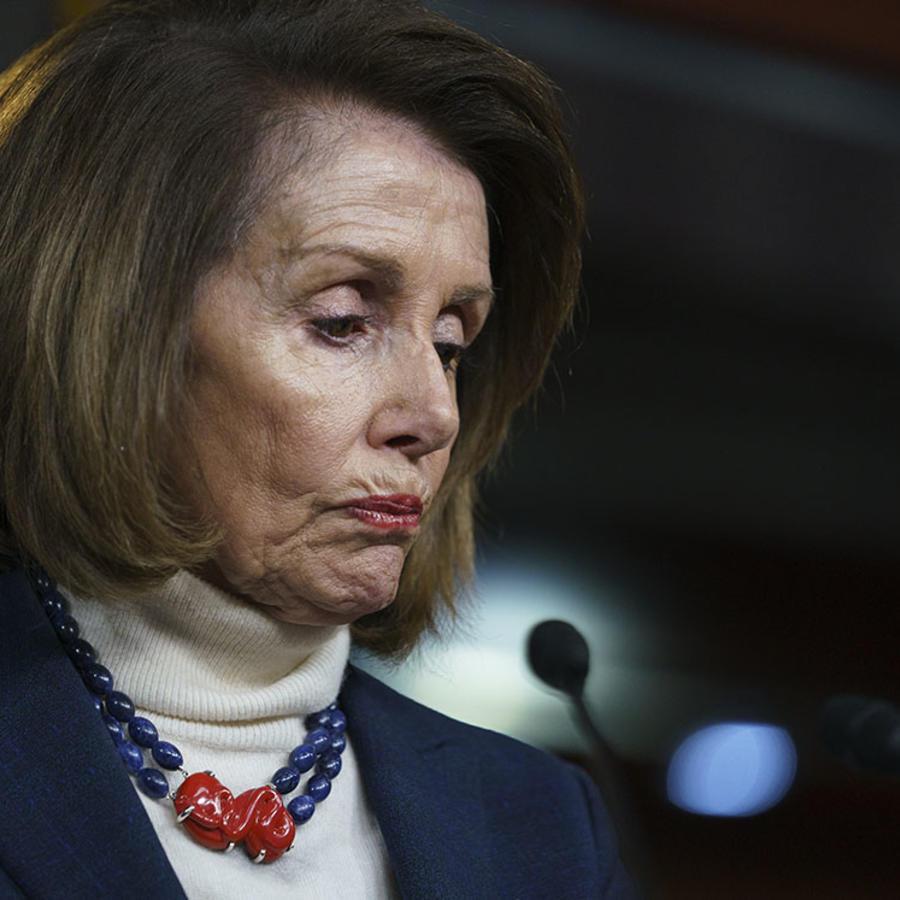 La demócrata Nancy Pelosi, presidenta de la Cámara de Representantes.