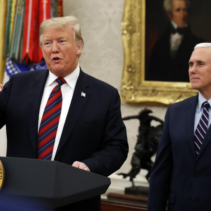 El presidente, Donald Trump, y el vicepresidente, Mike Pence