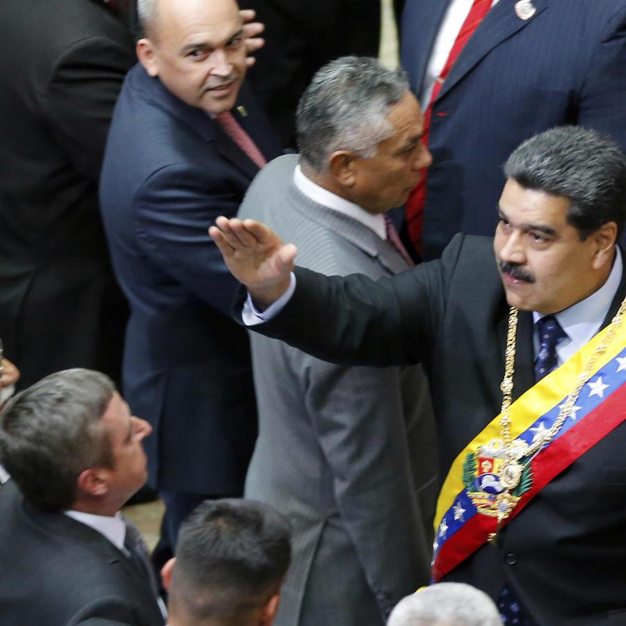 Maduro, durante su inauguración el 14 de enero en Caracas.