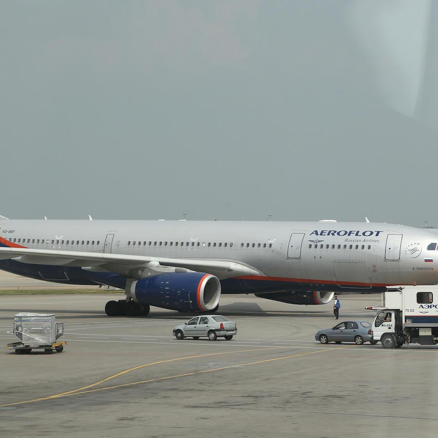 Imagen de archivo de un avión de Aeroflot en el aeropuerto de Moscú.