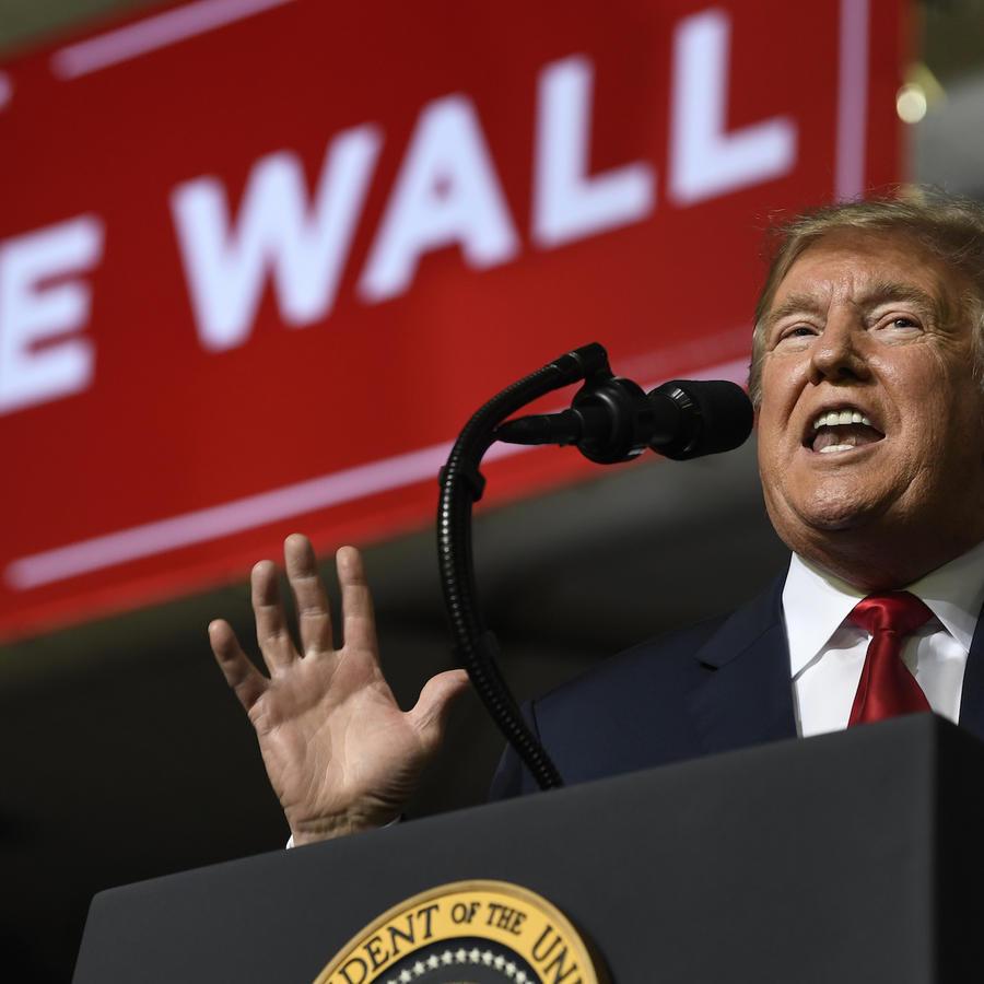 Trump, durante su acto político el 11 de febrero en El Paso, Texas.