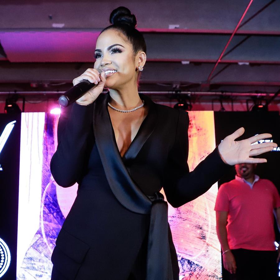 Natti Natasha at album release party in Miami