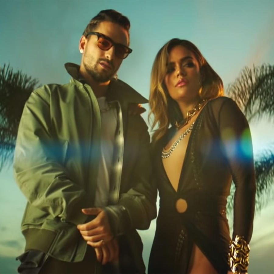 "Karol G and Maluma in ""Creeme"" music video"
