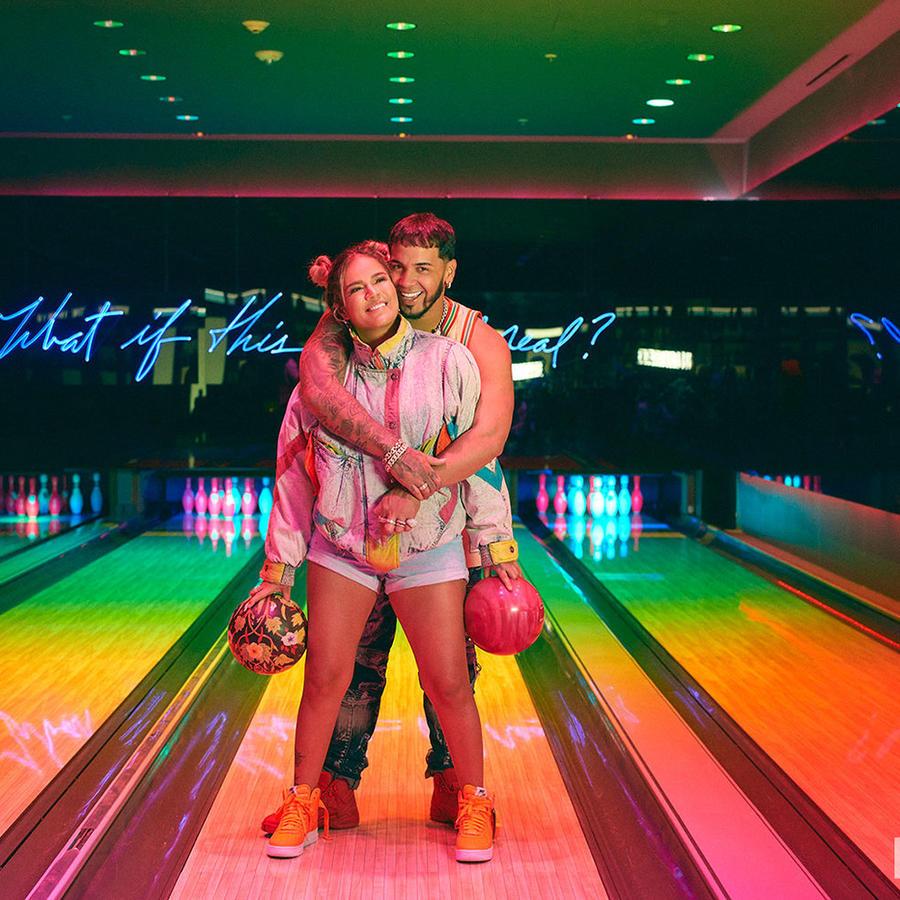 Anuel AA and Karol G in Billboard cover shoot