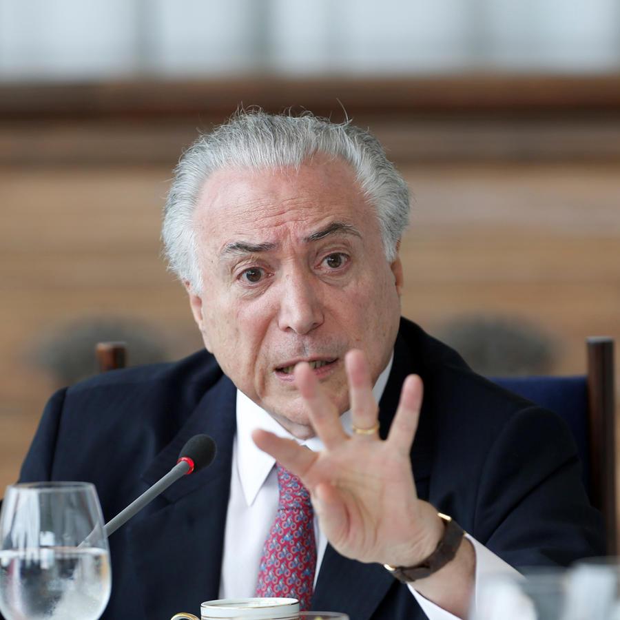 Ex presidente de Brasil Michel Temer en una imagen de archivo