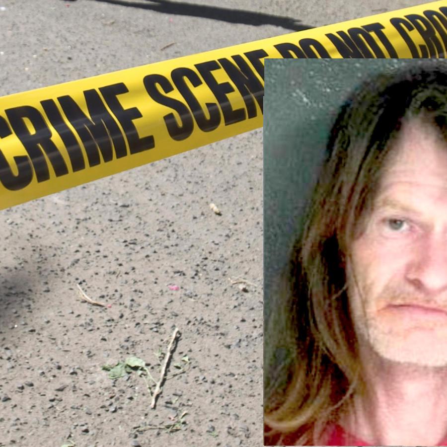Imagen de archivo de un cordón policial. A la derecha, Michael Leon Curry.