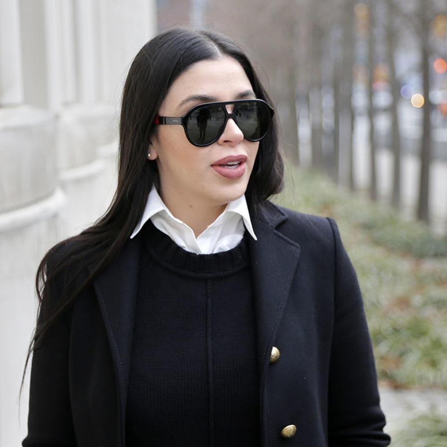 """Emma Coronel, esposa de """"El Chapo"""" Guzmán, en una corte federal en New York."""
