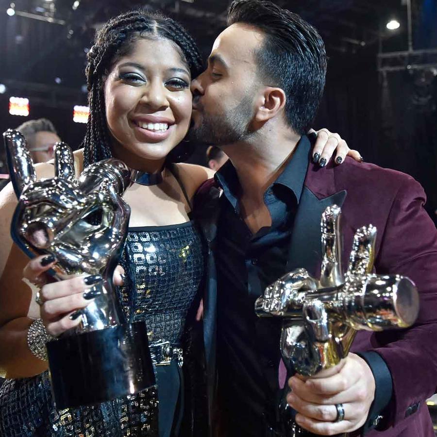 Luis Fonsi felicita a Jeidimar Rijos tras su victoria en La Voz