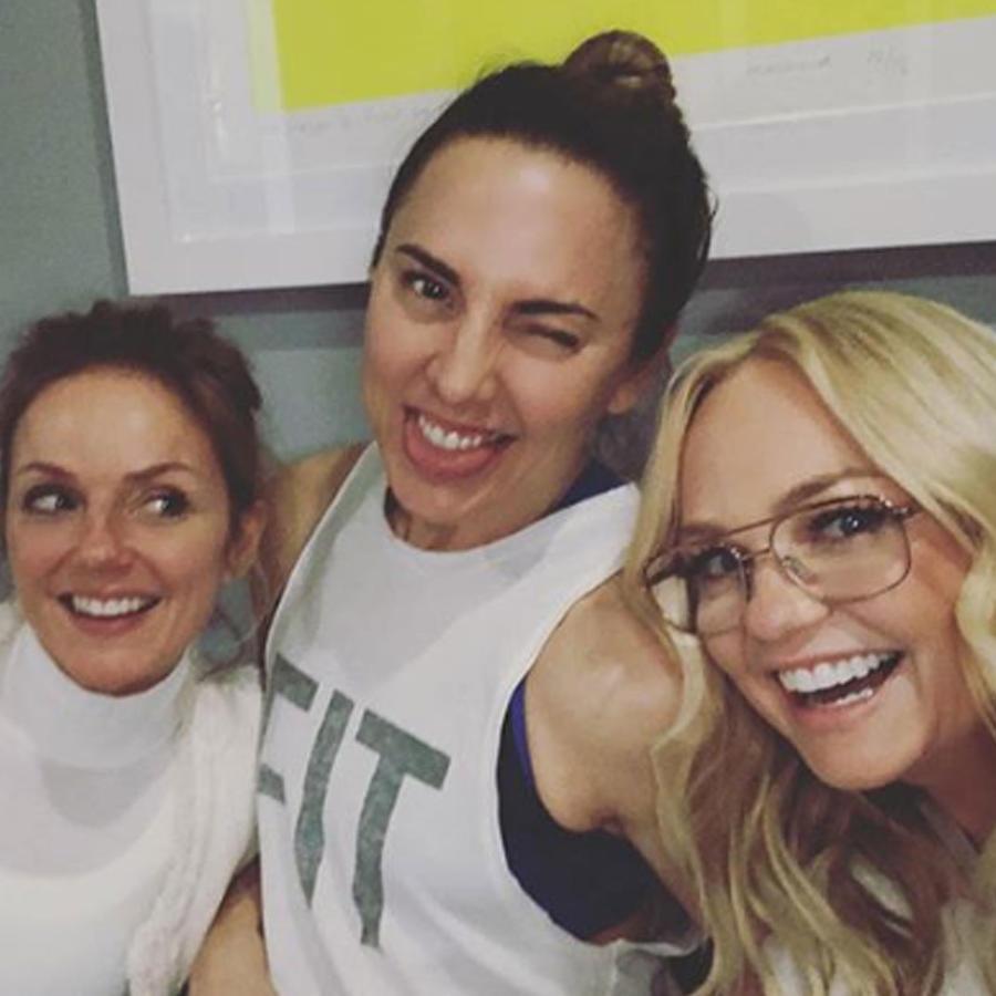 Las Spice Girls ensayando para su tour