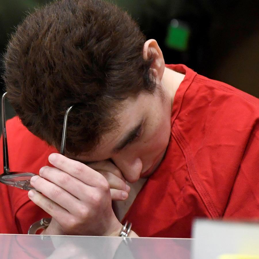 Nikolas Cruz, autor confeso de la masacre de Parkland, durante una de las audiencias en corte en una imagen de archivo