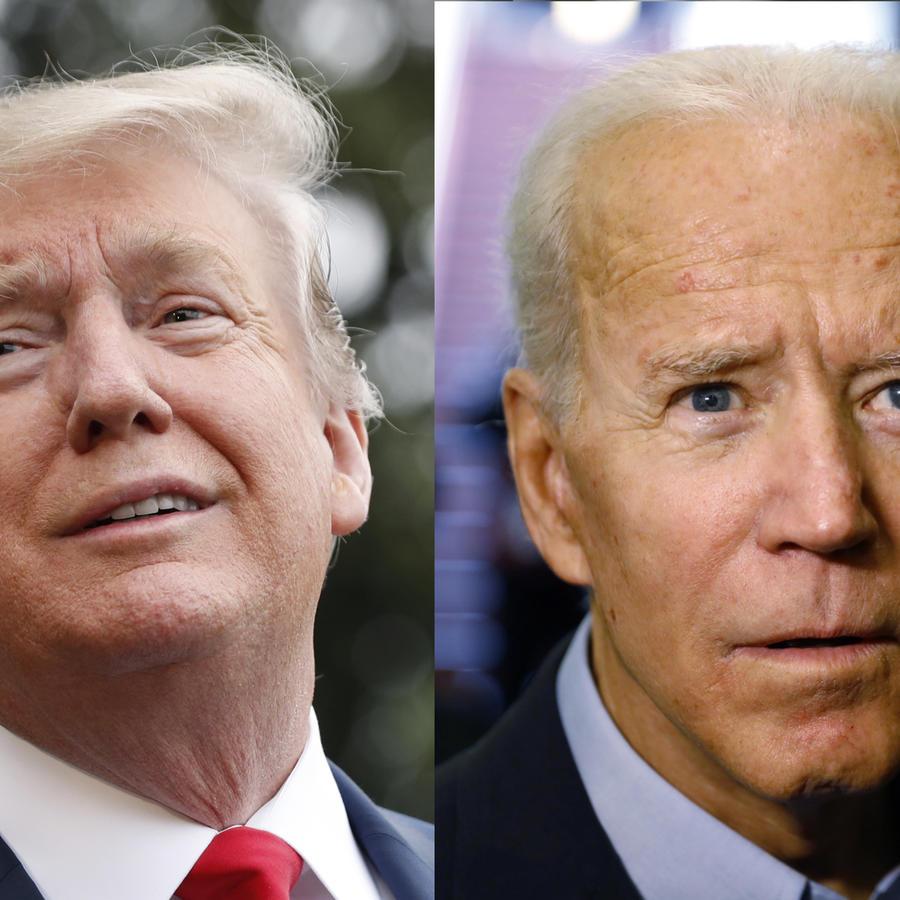 Trump y Biden, en imágenes de archivo.