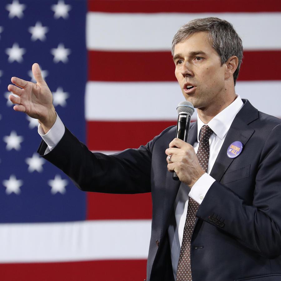 Beto O'Rourke en un acto electoral el 27 de abril de 2019 en Las Vegas (Nevada).