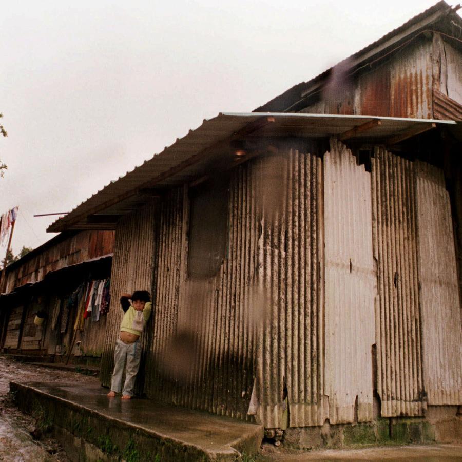 Fotografía de archivo de una casa en una plantación cafetalera de la región de Chiriquí en el oeste de Panamá