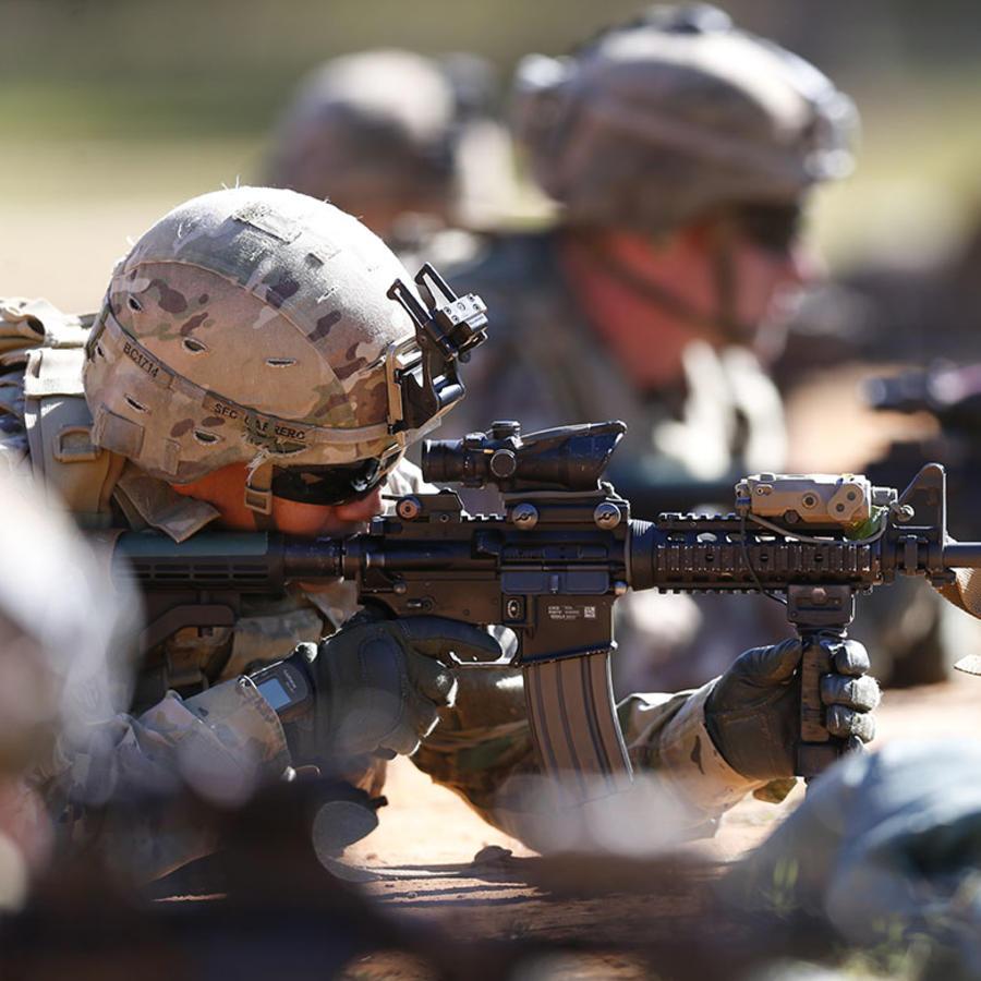 Soldados del Ejército estadounidense participan en un entrenamiento.