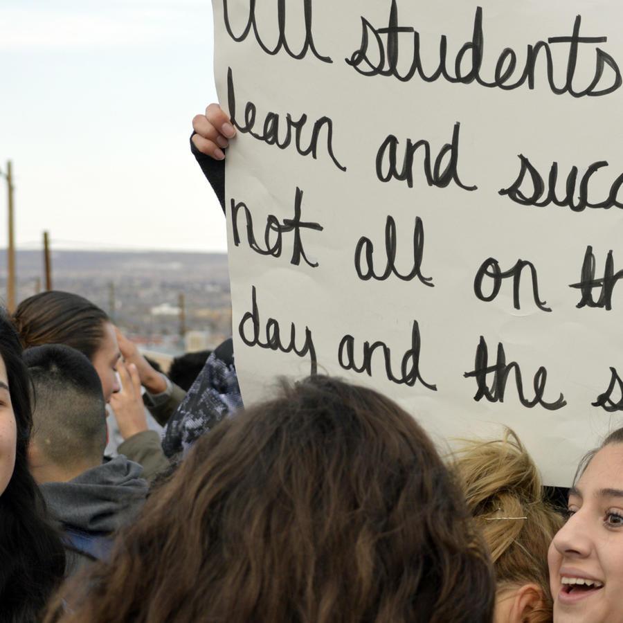 Manifestación de estudiantes en una imagen de archivo