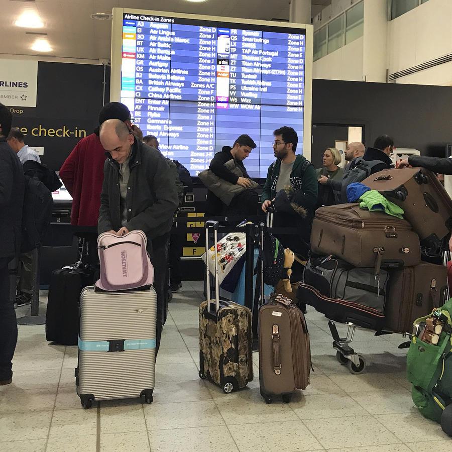 Imagen de archivo del aeropuerto londinense de Gatwick.