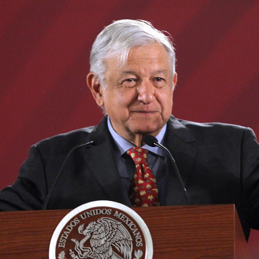 El presidente de México, Andrés Manuel López Obrador, durante la rueda de prensa matinal de hoy