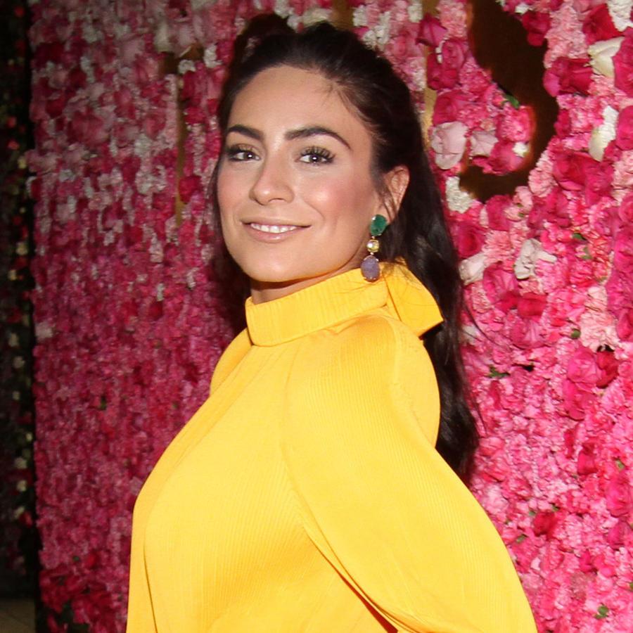 Ana Brenda Contreras en la alfombra roja de Tous Jewelry.