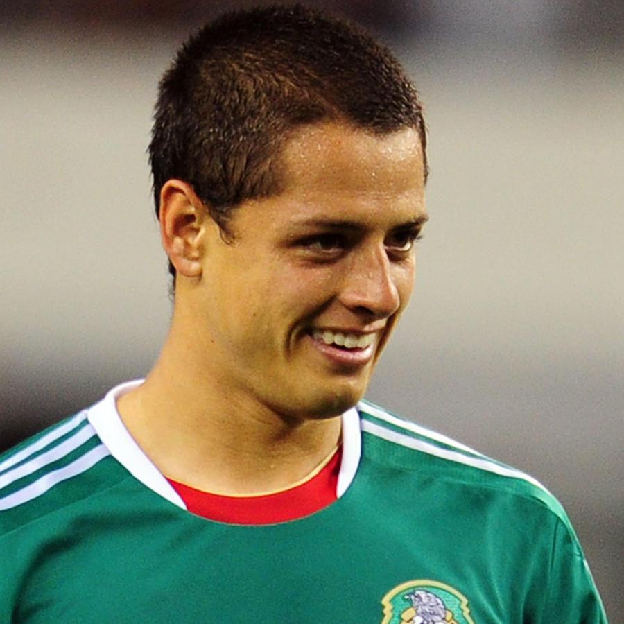 """Javier """"Chicharito"""" Hernández en un partido"""