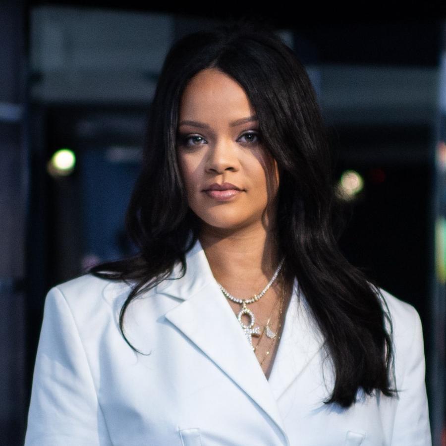 Rihanna en el lanzamiento de su colección Fenty
