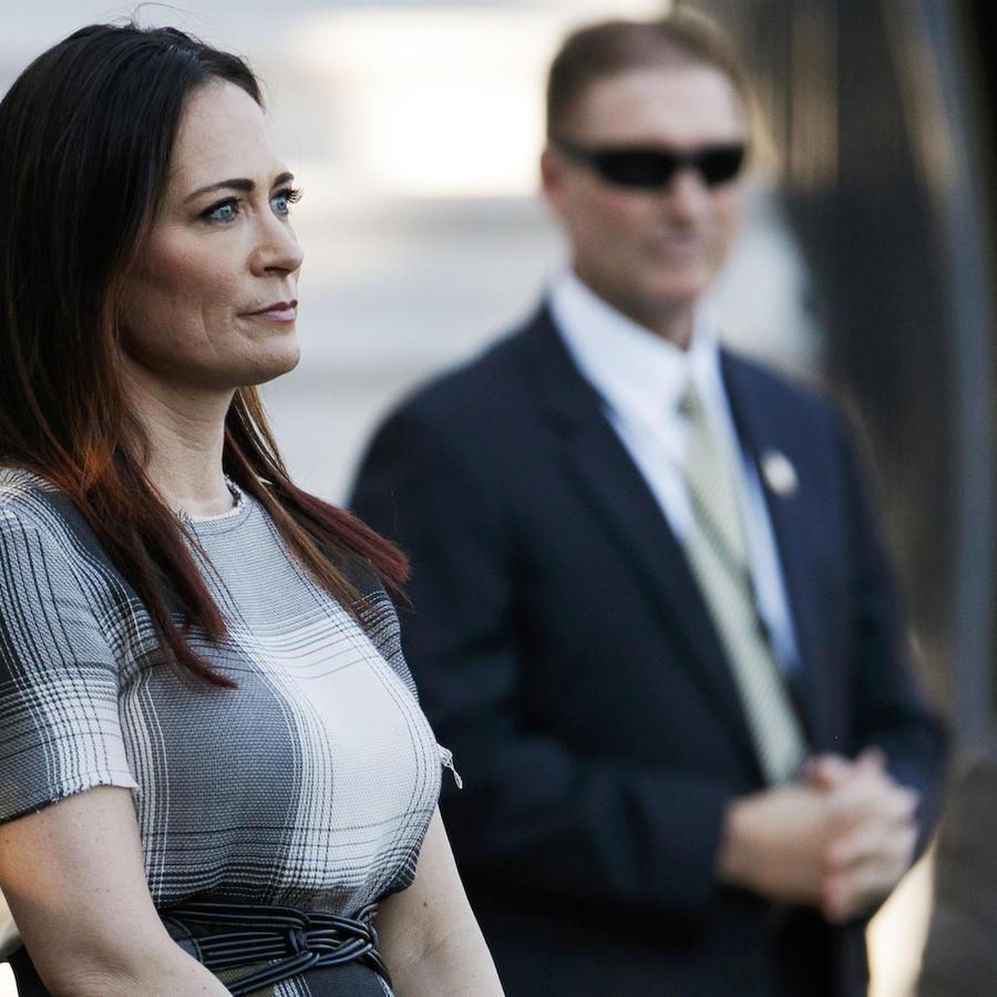 Stephanie Grisham, en un acto en la Casa Blanca el 21 de junio.