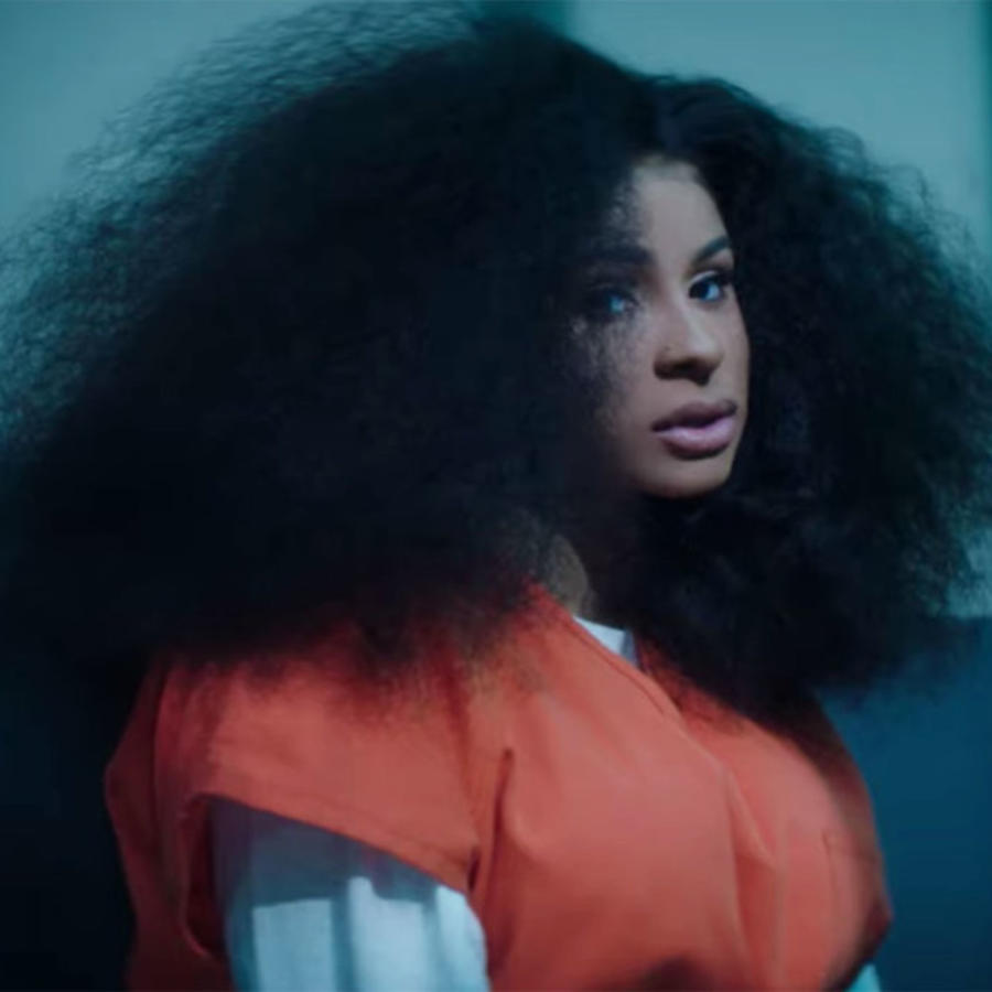Cardi B in press music video