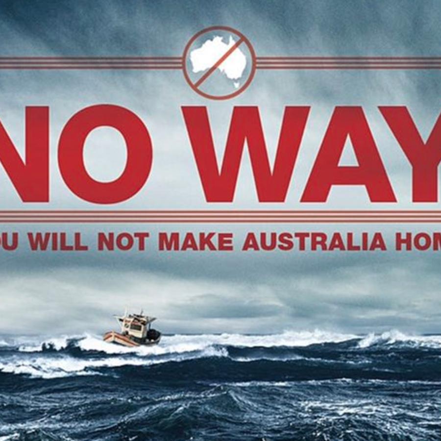 """Imagen publicada este jueves por Trump para alabar la política migratoria australiana. """"De ninguna manera, no convertirás Australia en tu hogar"""", dice el mensaje."""