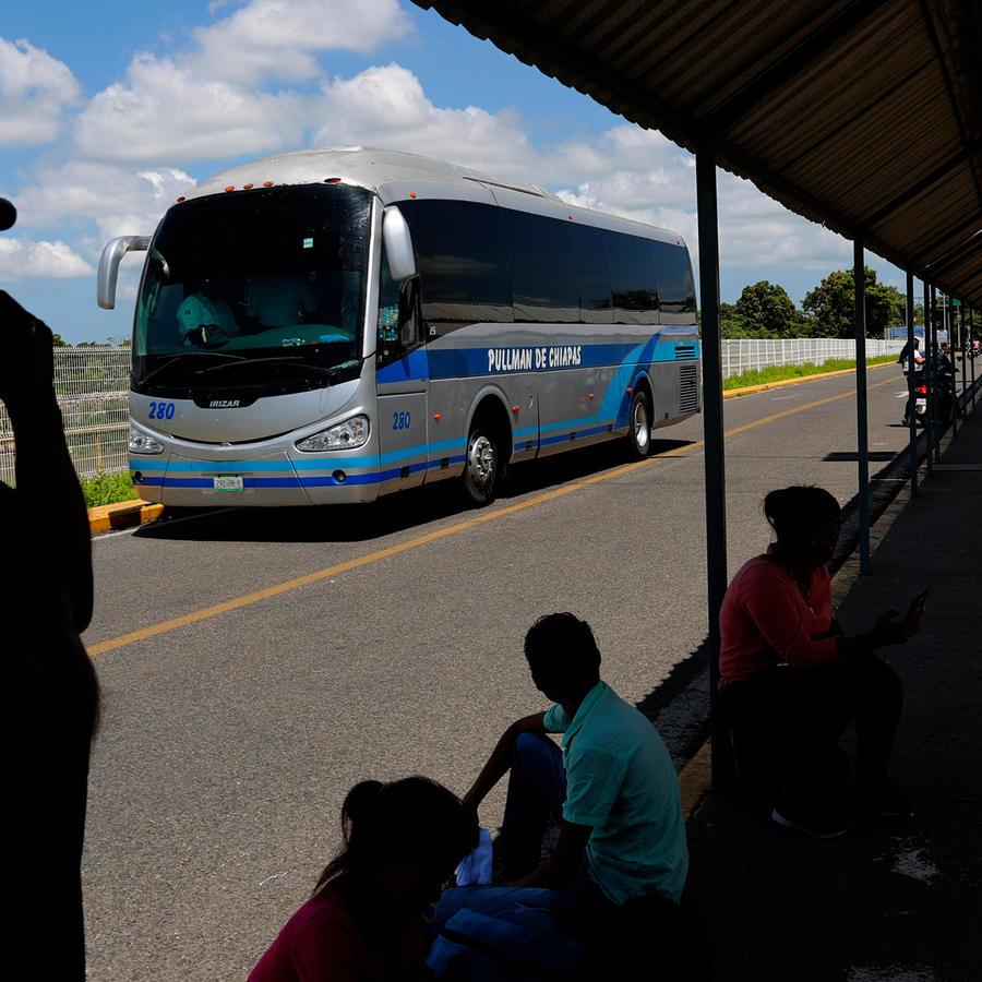 Autobuses en México en una imagen de archivo