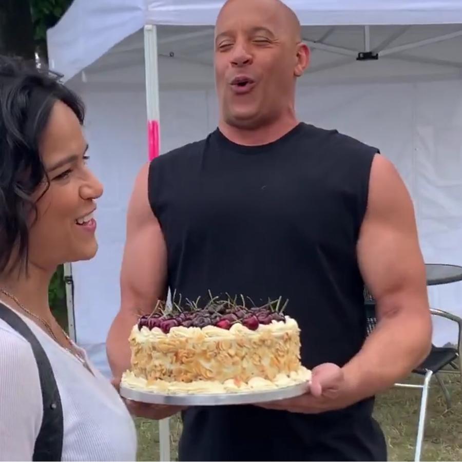 Vin Diesel sorprende a Michelle Rodriguez en su cumpleaños durante rodaje de Fast 9