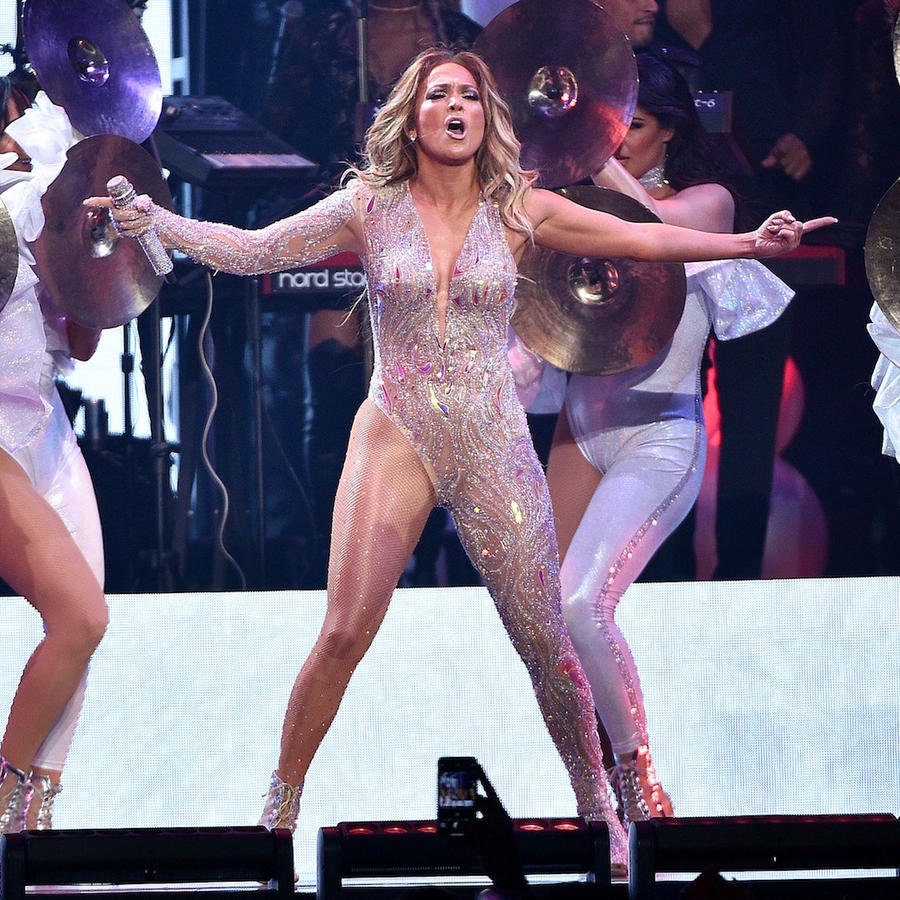 Jennifer Lopez in New York concert