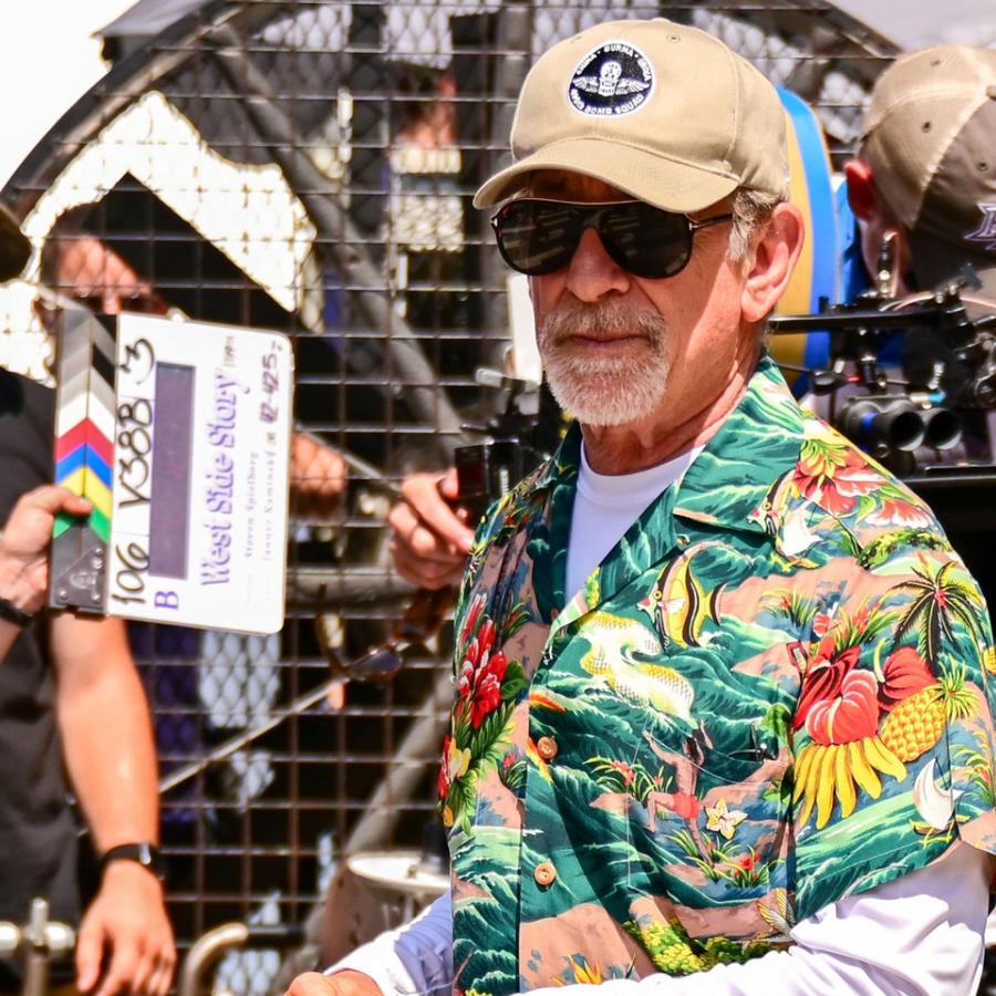"""Steven Spielberg en el rodaje de """"West Side Story"""""""