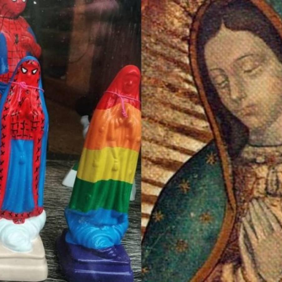 Causan polémicas figuras de la Virgen de Guadalupe