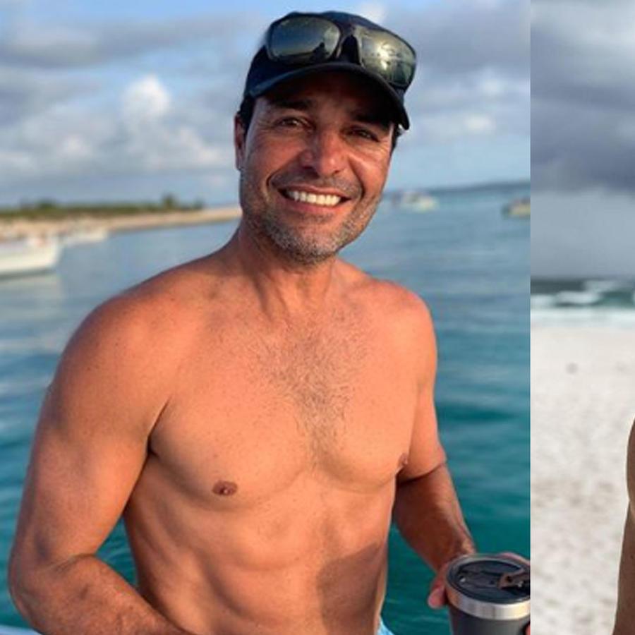 Chayanne y Sebastián Rulli en la playa