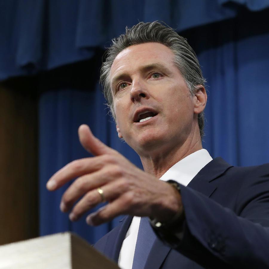 Imagen de archivo del gobernador de California, Gavin Newsom.