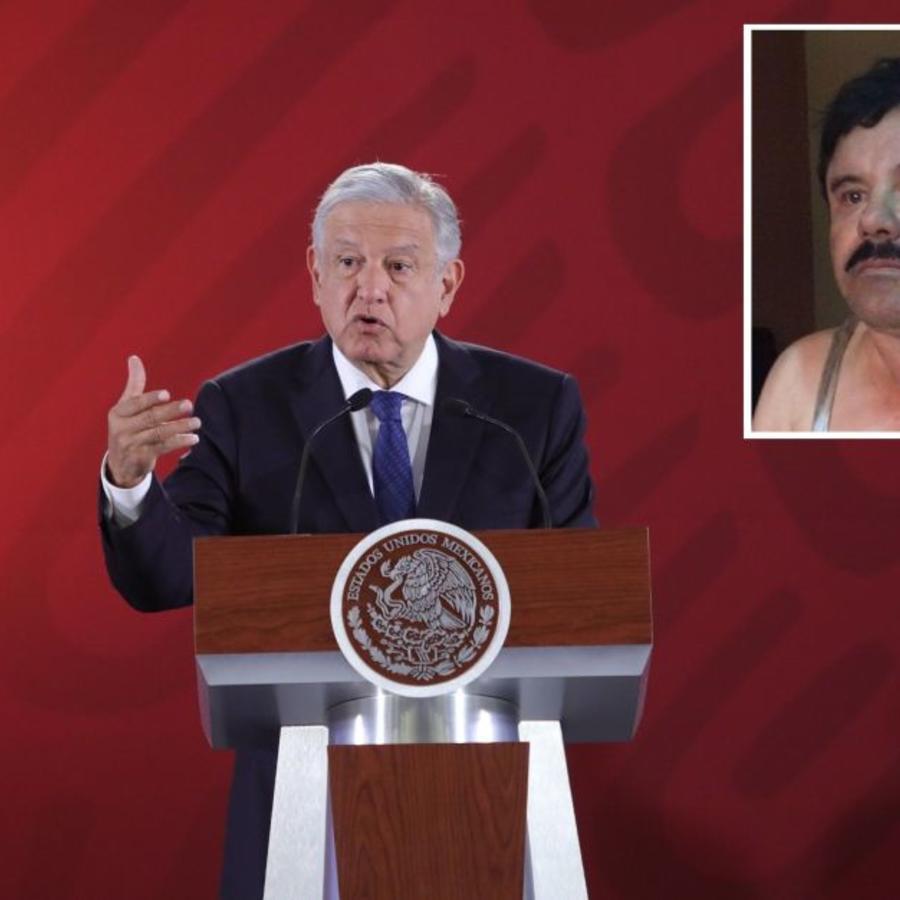 AMLO y El Chapo.