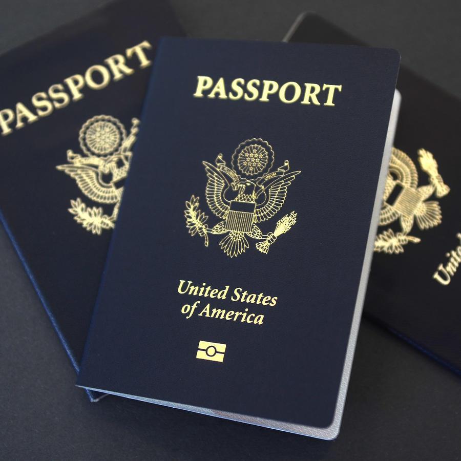 Imagen de archivo de pasaportes de Estados Unidos.