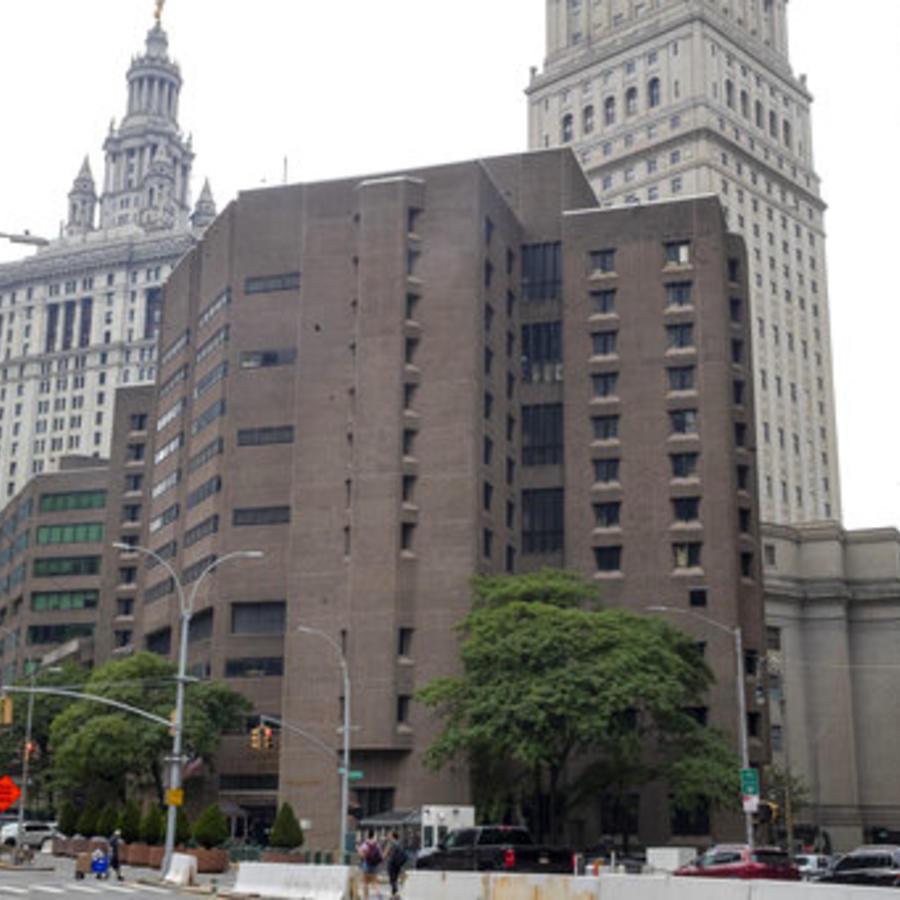 El Centro Correccional de Manhattan, la cárcel donde estaba detenido Jeffrey Epstein.