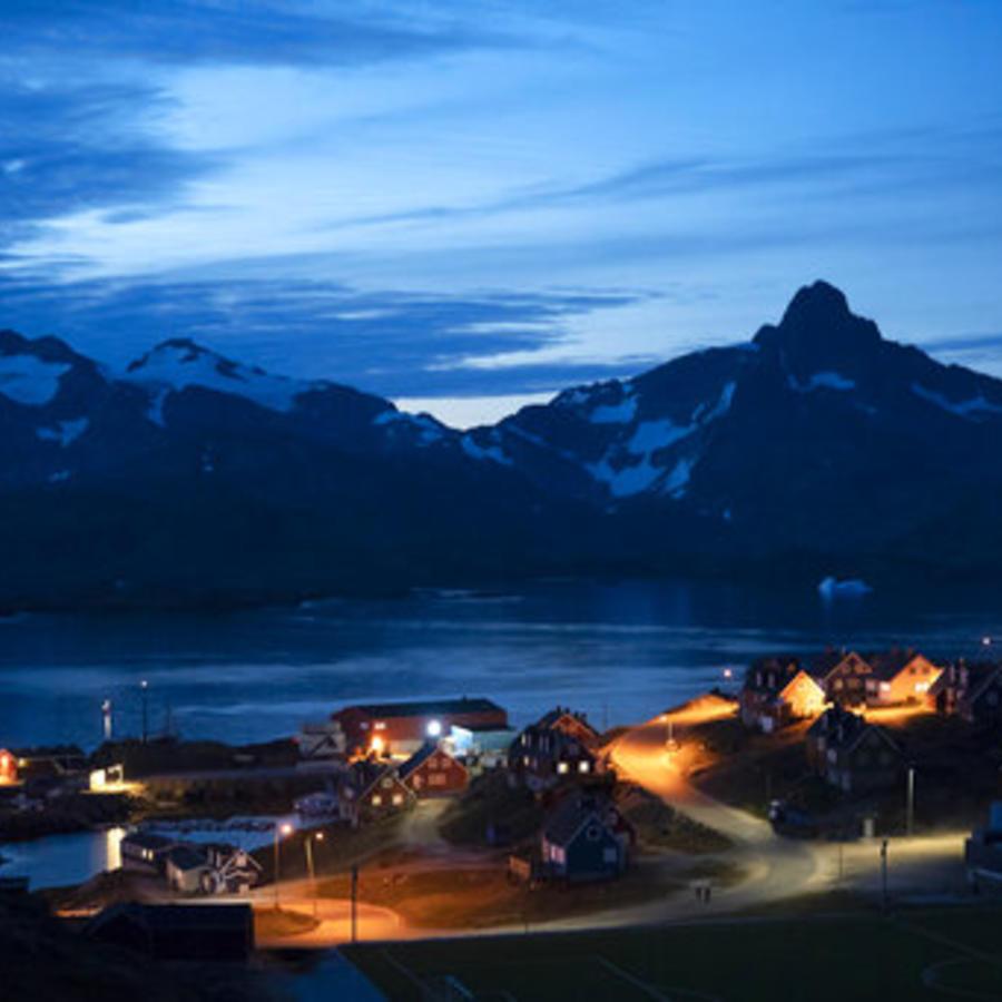 Una imagen de Taliilaq, localidad de Groenlandia, tomada el pasado viernes.
