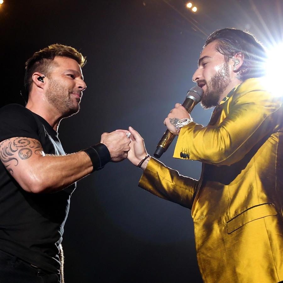 Maluma y Ricky Martin en concierto en el Forum