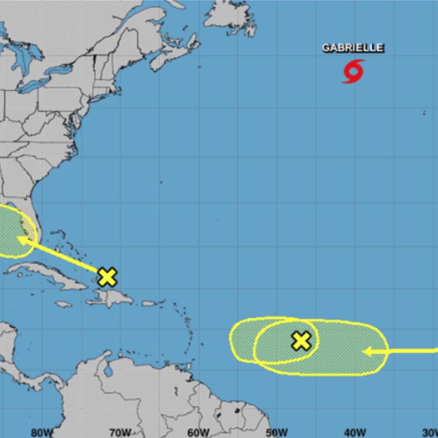Pronóstico del Centro Nacional de Huracanes a 10 de septiembre de 2019.